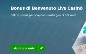 Bonus Benvenuto Live StarCasinò