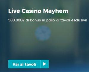 Live Casino Bonus StarCasinò 500.000€!