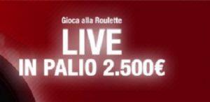 Bonus roulette live 2.500€ GD Casino